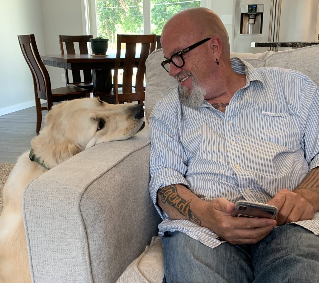 Photo of Author Thomas Scott and his dog Buster